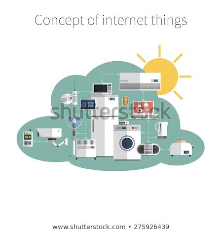 Akıllı ev Internet işler afişler yatay Stok fotoğraf © -TAlex-