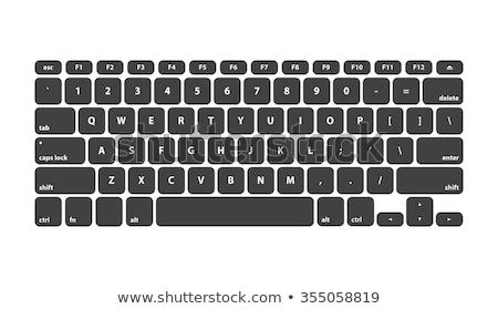 Símbolo clave teclado icono aislado moderna Foto stock © kyryloff