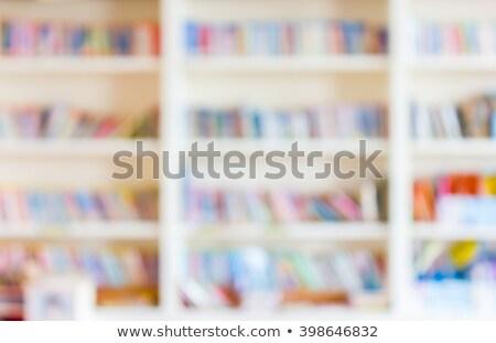 Houten boekenplank kantoor bar winkel markt Stockfoto © Suriyaphoto
