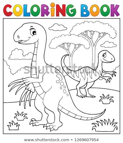 книжка-раскраска динозавр изображение книга природы искусства Сток-фото © clairev