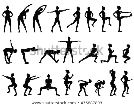 Woman Sportive Lady Icons Vector Illustration Stock photo © robuart