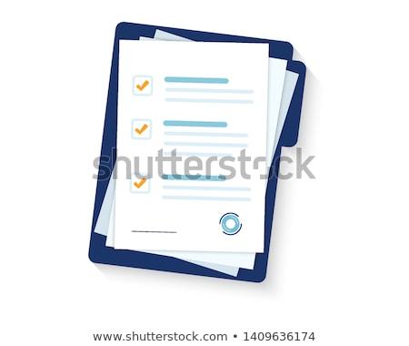 Biuro papieru dokumentu strona odizolowany ikona Zdjęcia stock © robuart
