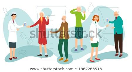 старые стиль Председатель женщины диагностика белый Сток-фото © artfotodima
