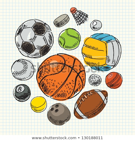 Rugby ball hand drawn outline doodle icon. Stock photo © RAStudio