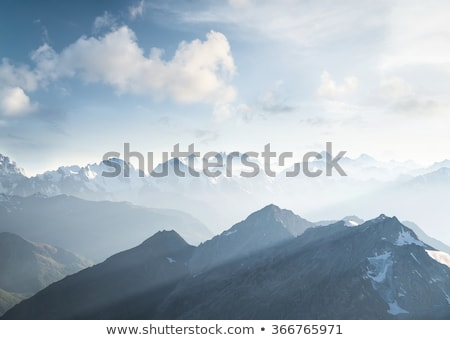 горные небе парка Аляска снега Сток-фото © wildnerdpix