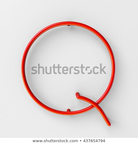 Metal red lines font Letter Q 3D Stock photo © djmilic