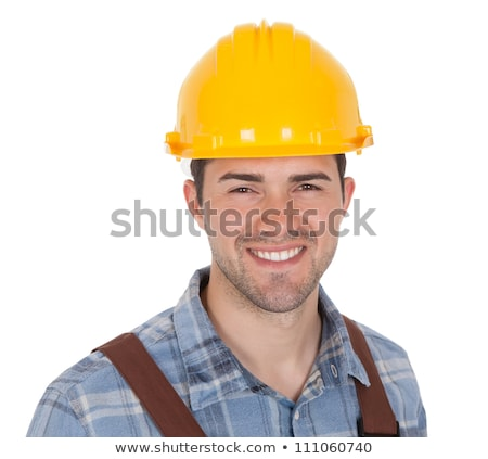 Electrician wearing safety hat Stock photo © colematt