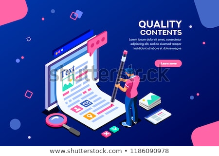 Content marketing creating with blogger character Stock photo © jossdiim
