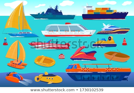 water transport traveling vessels ships vector stock photo © robuart