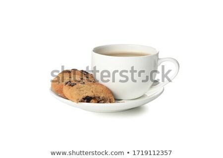 csokoládé · sütik · csésze · kávé · közelkép · asztal - stock fotó © eddows_arunothai