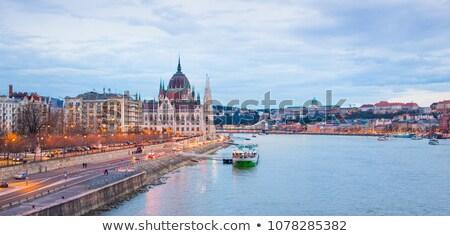 Bruggen parlement Boedapest zomer dag water Stockfoto © Givaga