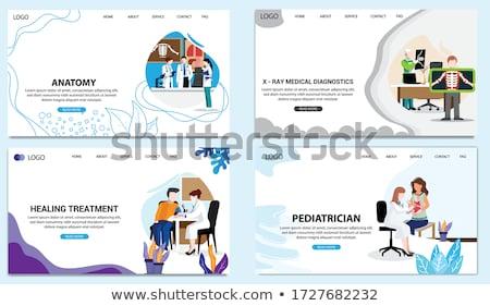 Interno marketing aterrissagem página grande alvo Foto stock © RAStudio