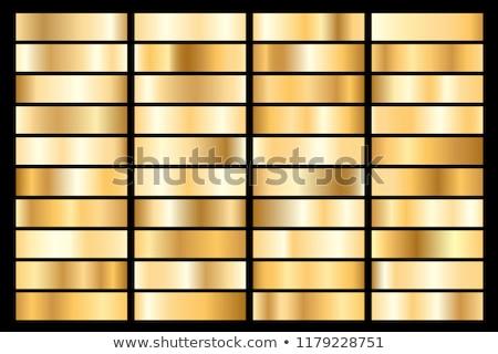 Collectie gouden metalen helling briljant platen Stockfoto © olehsvetiukha