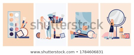 Makeup and Visagiste Working Posters Set Vector Stock photo © robuart