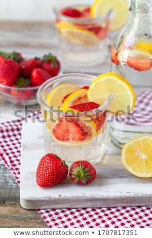 gezonde · drinken · bessen · water · ijs - stockfoto © karandaev