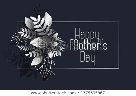 Stock fotó: awesome happy mother's day dark greeting