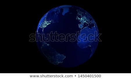 gerçekçi · toprak · uzay · kuzey · güney · amerika - stok fotoğraf © conceptcafe