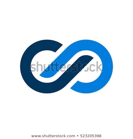 Infinito logo modello vettore icona design Foto d'archivio © atabik2