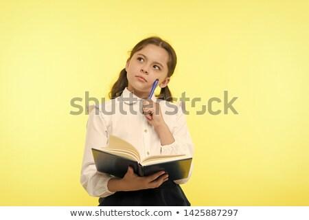 yellow clothing girl_complex Stock photo © toyotoyo