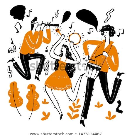 Doodle graphic of musician Stock photo © colematt