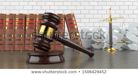 молоток луч баланса судья 3d иллюстрации Сток-фото © limbi007