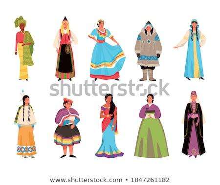 Vector set of eskimo characters pattern Stock photo © netkov1