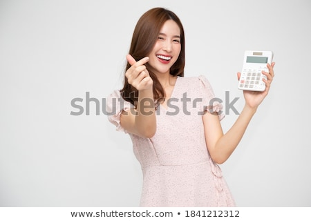 Calculator Numbers, Business Workers Isolated Stock photo © robuart