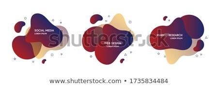 Szett absztrakt modern grafikus elemek gradiens Stock fotó © makyzz
