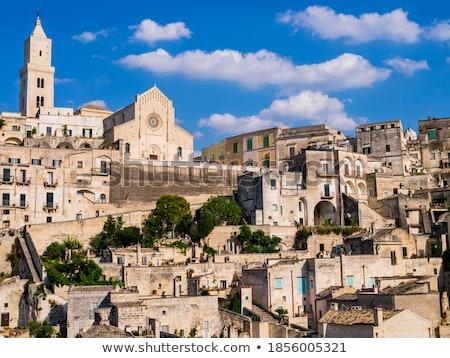 Narrow street of the ancient town of Matera at Basilicata region Stock photo © boggy