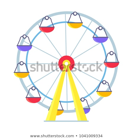 Ferris-Wheel with Lots of Colorful Cabs Isolated Stock photo © robuart