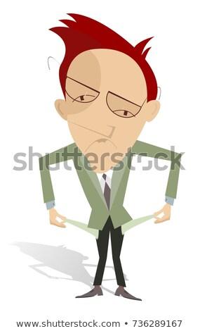 Zaklatott férfi üres izolált illusztráció rajz Stock fotó © tiKkraf69