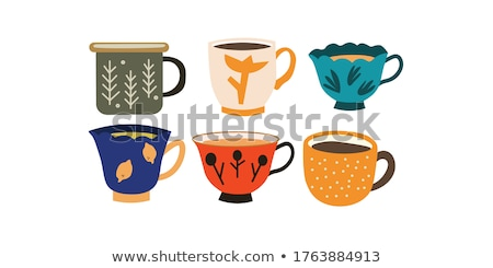 Cup of coffee cartoon hand drawn style stock photo © amaomam