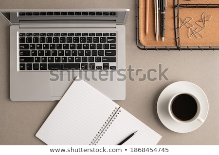 Open · notebook · potlood · top - stockfoto © pressmaster
