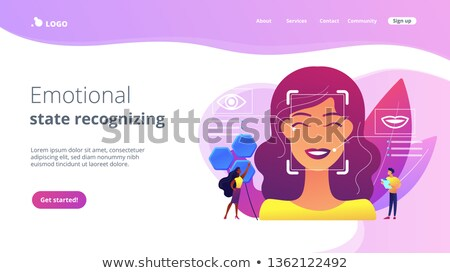 Emotion detection concept landing page. Stock photo © RAStudio