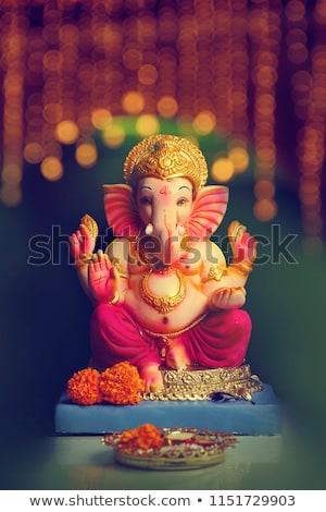 festival greeting background for ganesh chaturthi stock photo © sarts