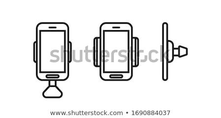 Cep telefonu bilgisayar araba el telefon klavye Stok fotoğraf © jomphong