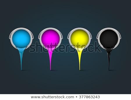 inkt · druppels · 3D · geïsoleerd · witte · verf - stockfoto © djmilic