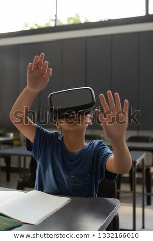 Asian schooljongen virtueel Stockfoto © wavebreak_media