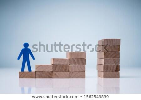 ビジネスマン 立って ステップ 階段 人間 ストックフォト © AndreyPopov