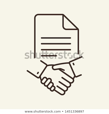 Agreement Icon Vector Outline Illustration Stock photo © pikepicture