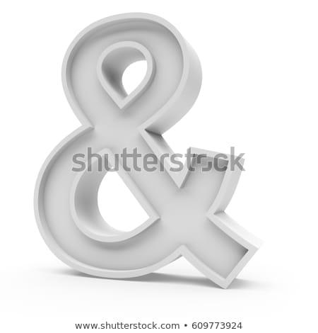 ampersand on white background. Isolated 3D illustration Stock photo © ISerg