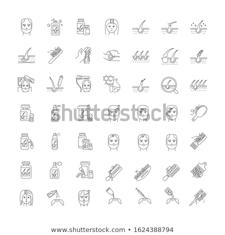 Hair Transplantation Collection Icons Set Vector Stock photo © pikepicture