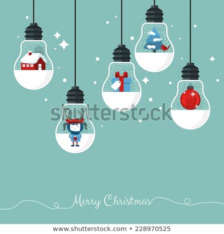 дома вектора зима праздник открытки Сток-фото © robuart