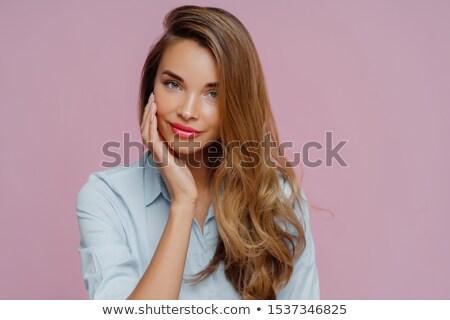 Keyifli bakıyor kadın model Stok fotoğraf © vkstudio