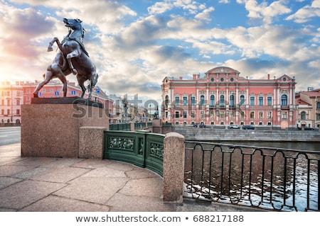 Palota szent Oroszország kereszteződés folyó épület Stock fotó © borisb17