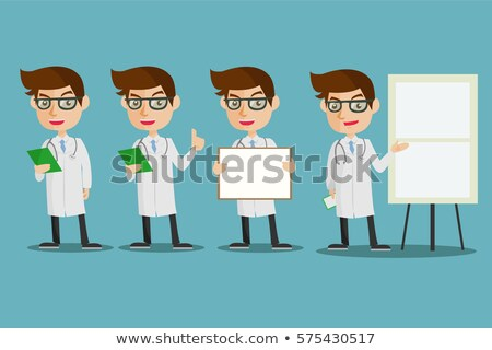 Karikatür tıbbi kimyager kimyasal profesyonel erkek Stok fotoğraf © Voysla