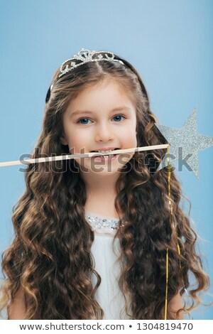 Foto mulher atraente criança agradável aparência longo Foto stock © vkstudio