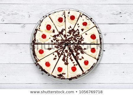 üst görmek kremsi kek kiraz örnek Stok fotoğraf © bluering