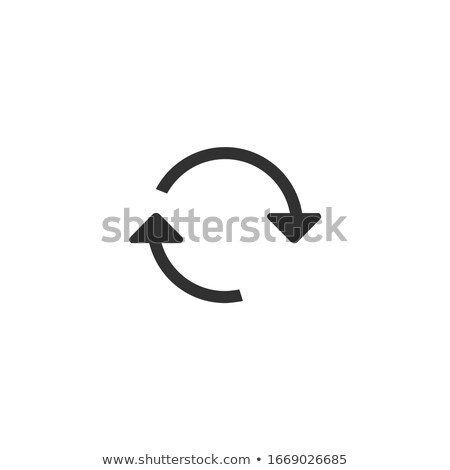 Circular two arrows sign icon. Refresh, convert, exchange ion. Stock Vector illustration isolated on Stock photo © kyryloff