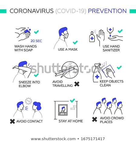 Vector simple illustration of an infected man in a crowd  Stock photo © Elisanth